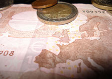 Europa op een bankbiljet