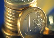 Stapel euro-munten