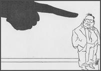 Wijzende vinger naar Gijs van Aardenne