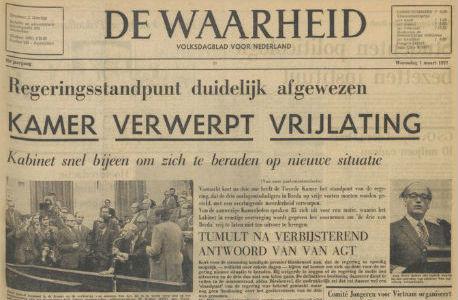 Voorpagina De Waarheid 1 maart 1972