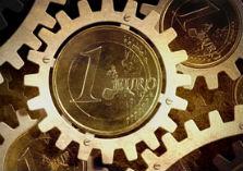euro's in een rad