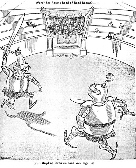 Twee ridders in een arena