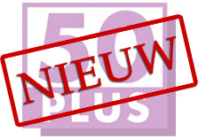 logo 50-plus voorzien van 'nieuw'-stempel