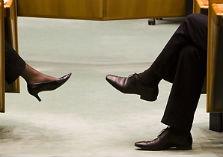 Damesschoenen herenschoenen in de Tweede Kamer