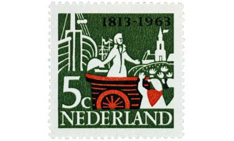 herinneringspostzegel 1963