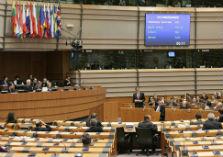 Vergaderzaal Europaparlement in Brussel