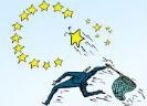 Vlindervanger die Europese sterren vangt