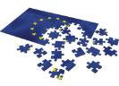 Puzzel van de Europese sterren met losse puzzelstukjes