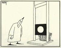Stempotlood bij guillotine