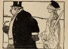 Spotprent met burger en vrouwe Justitia