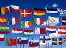 Wapperende vlaggen EU-lidstaten