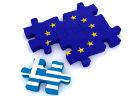 Europese puzzel met apart stukje voor Griekenland