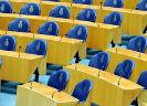 Lege Tweede Kamer stoelen