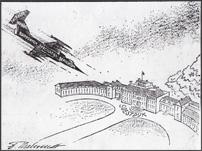 Lockheed-straaljager valt paleis Soestdijk aan