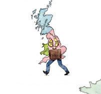 Wegwandelend Groot-Brittannië