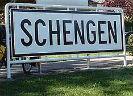 Plaatsnaambord met Schengen