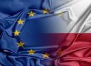 Europese vlag in Poolse vlag overgaand