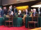 Vergaderzaal Eerste Kamer met staande en zittende leden