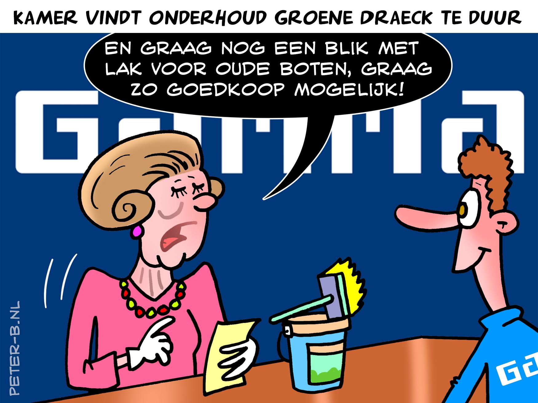 Prinses Beatrix bij de Gamma