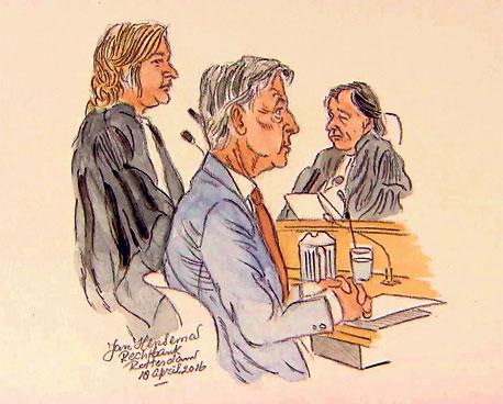 Ronald Plasterk als getuige in de strafzaak tegen Jos van Rey