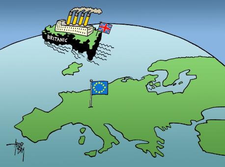 omslag 'De Britanic stoomt weg van Europa'