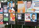 Aanplakbord met verkiezingsposters