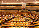 Vergaderzaal Europees Parlement in Brussel