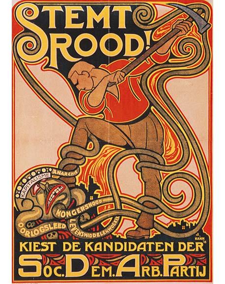 SDAP-verkiezingsaffiche 1918